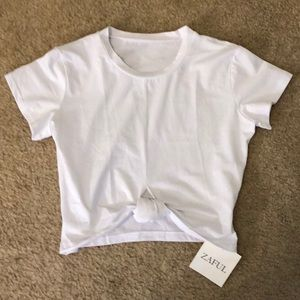 Tops - white t shirt from zaful